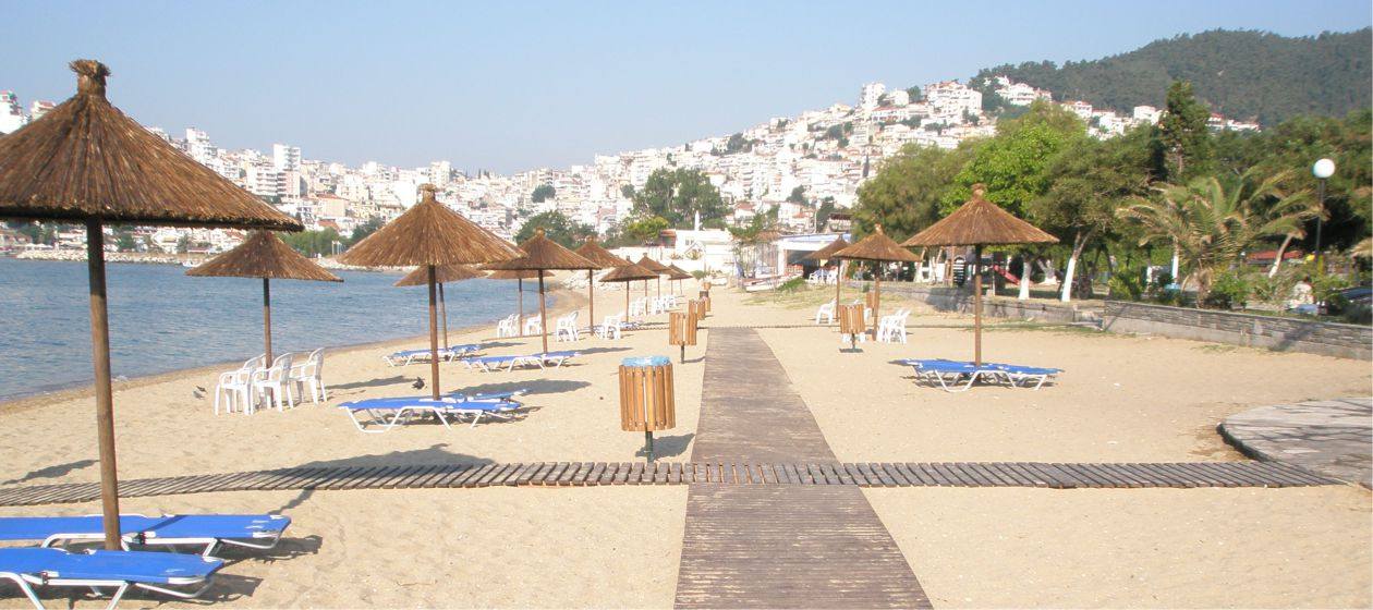 Amazing beaches in the city of Kavala